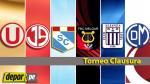 Torneo Clausura: día, hora, canal y árbitros de los partidos de la fecha 14 - Noticias de fernando castaneda melgar