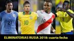 Eliminatorias Rusia 2018: aquí todos los resultados de la fecha 4 - Noticias de david comi