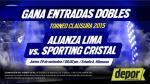 Alianza Lima vs. Sporting Cristal: gana entradas dobles para el partido - Noticias de mercado de pases