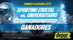 Sporting Cristal vs. Universitario: estos son los ganadores de las entradas - Noticias de pedro espinoza