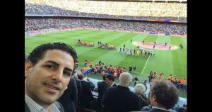 Juan Diego Flórez publicó las imágenes de su encuentro con los cracks de Barcelona en su cuenta de Facebook.