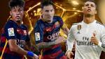Balón de Oro 2015: Lionel Messi, Cristiano Ronaldo y Neymar son finalistas - Noticias de nombre del año 2013