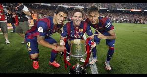 Luis Suárez, Lionel Messi y Neymar conforman el mejor ataque en al actualidad. (Getty Images / Difusión)