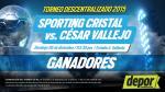 Sporting Cristal vs. César Vallejo: estos son los ganadores de las entradas dobles - Noticias de ricardo cerron