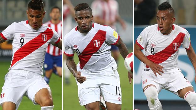 Foto de futbolistas peruanos