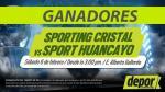 Sporting Cristal vs. Sport Huancayo: estos son los ganadores de entradas dobles - Noticias de miguel villalobos