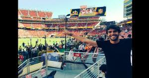 Kaká se mostró muy contento de estar presente en el Levi´s Stadium. (Twitter)