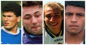 Zinedine Zidane y otros cracks que te podría costar reconocerlos con cabello. (Difusión)