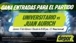 Universitario de Deportes vs. Juan Aurich: Depor te regala entradas dobles - Noticias de noche crema 2016