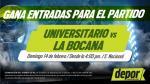 Universitario de Deportes vs. La Bocana: gana entradas dobles para el partido - Noticias de noche crema 2016