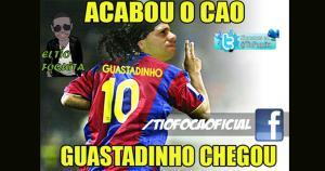 Guastavino volvió a aparecer en el momento justo y en las redes hasta lo compararon con Ronaldinho.