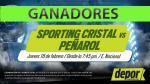 Sporting Cristal vs. Peñarol: lista de ganadores de entradas dobles - Noticias de maria vilchez