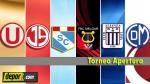 Torneo Apertura: mira la programación de la fecha 5 - Noticias de ivan chang