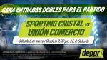 Sporting Cristal vs. Unión Comercio: ganadores de las entradas dobles - Noticias de lady godiva