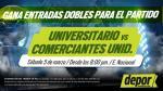 Universitario vs. Comerciantes: mira aquí si ganaste una entrada doble - Noticias de patricia conde