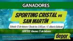 Sporting Cristal vs. San Martín: conoce si eres ganador de entradas dobles - Noticias de raul robles