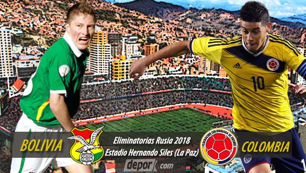 Bolivia vs. Colombia en vivo por Eliminatorias Rusia 2018. (Foto Depor)