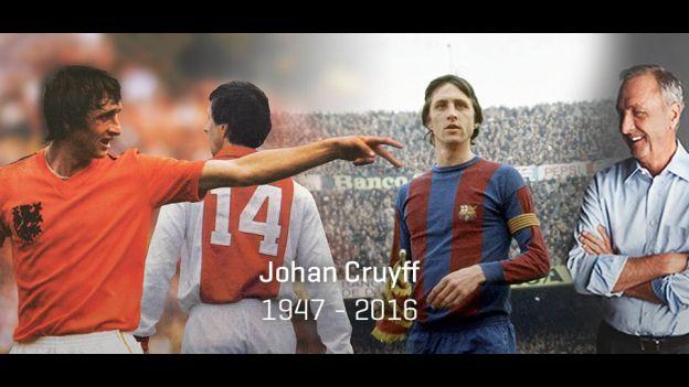 La web oficial de Johan Cruyff anunció el fallecimineto de la leyenda holandesa. (Web Johan Cruyff)