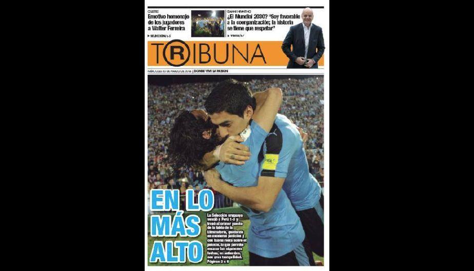 Selección Peruana: así celebró la prensa de Uruguay el triunfo ante Perú