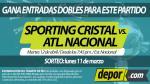 Sporting Cristal vs. Atlético Nacional: gana entradas dobles para este partido - Noticias de estafadores