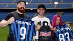 Mauro Icardi recibió a Sheamus y Sasha Banks en el Giuseppe Meazza - Noticias de mauro icardi