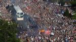 Real Madrid vs. Manchester City: el espectacular recibimiento a los merengues - Noticias de choque de buses