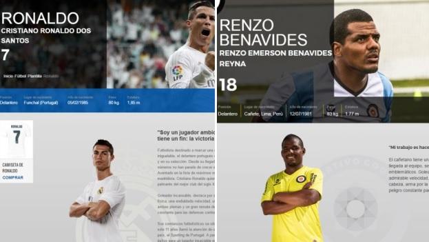 Equipo peruano de Segunda División tiene página web igual a la del Real Madrid