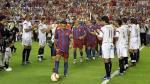 Barcelona vs Sevilla: el día que se homenajearon con doble pasillo - Noticias de luis fabiano