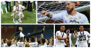La celebración del Real Madrid tras lograr la undécima Champions League (Getty).