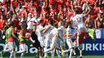 Polonia tuvo gesto antideportivo con hinchas de Suiza por la Eurocopa