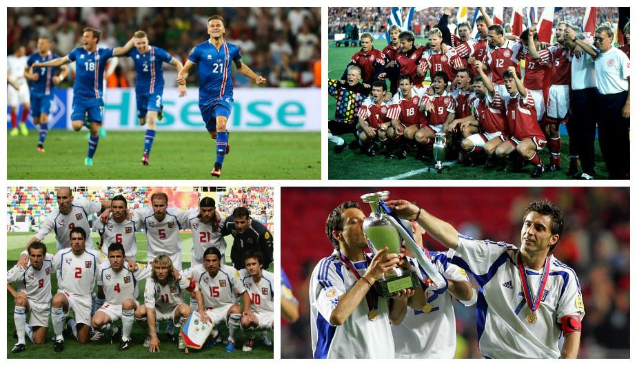 Las selecciones que dieron la sorpresa en la historia de la Eurocopa (Getty).
