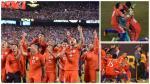 La celebración de Chile tras campeonar la Copa América ante Argentina