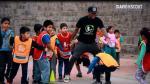 Jefferson Farfán bailó el 'totó' con niños de San Martín de Porres - Noticias de chalaca