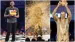 NBA: Kobe Bryant fue bañado en oro en plena premiación - Noticias de kobe bryant