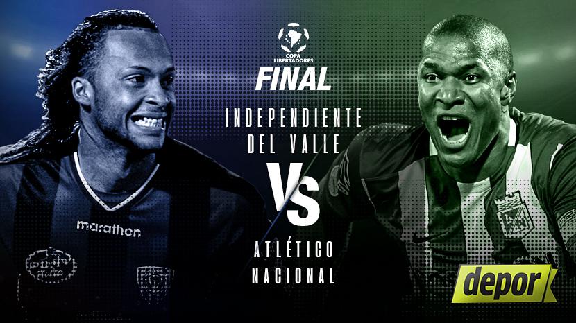 (1-1) Indpte del Valle - Atlético Nacional (Final ida)