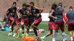 Selección Peruana cumplió su sexto día de trabajos con plantel casi completo - Noticias de andre pareja pl