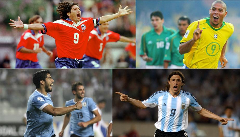 Los máximos goleadores de las últimas Eliminatorias en Sudamérica. (Getty Images)