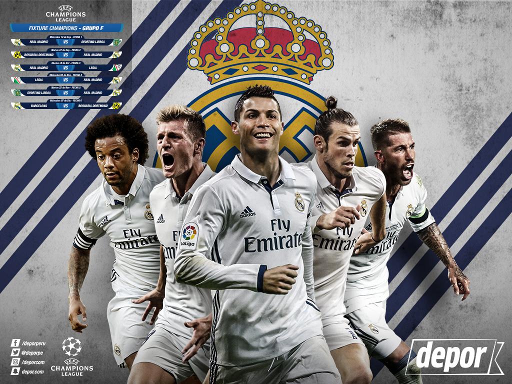 Champions League descarga gratis el Wallpaper del Real Madrid