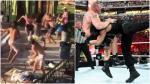Una brutal lanza a lo Roman Reigns durante pelea callejera - Noticias de peleas callejeras
