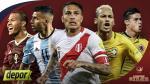 Eliminatorias Rusia 2018: sigue EN VIVO todos los partidos de la fecha 10 - Noticias de hernando siles