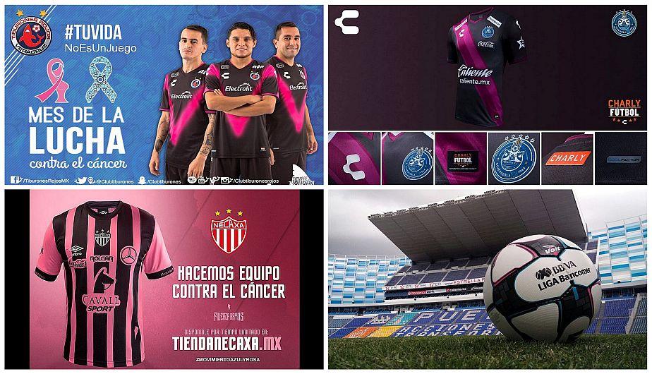 Camisetas, árbitros y balón: los cambios que hizo la Liga MX en su lucha contra el cáncer.