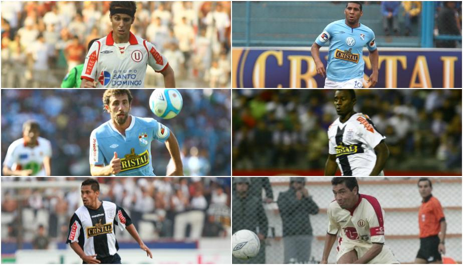 Los futbolistas que jugaron por Universitario de Deportes, Alianza Lima y Sporting Cristal (USI).