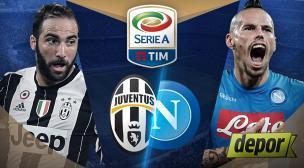 Juventus vs. Napoli se enfrentan hoy por fecha 11 de la Serie A