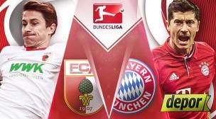 Bayern Munich vs. Augsburgo: se miden hoy por Bundesliga