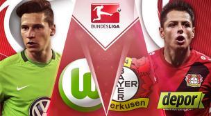 Con 'Chicharito': Bayer Leverkusen vs. Wolfsburgo: hoy por Bundesliga