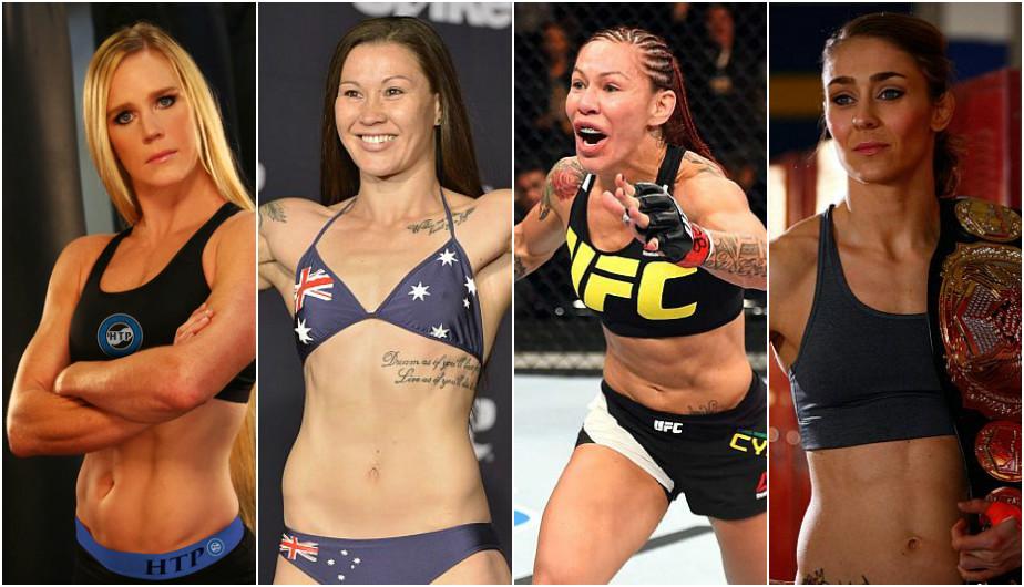 Cris Cyborg y las posibles estrellas del peso pluma femenino de la UFC. (Getty Images)