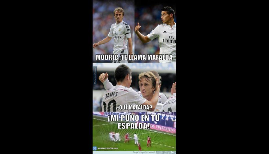 Doblete de James Rodríguez, victoria del Real Madrid y así atacaron los memes. (Foto: Getty)