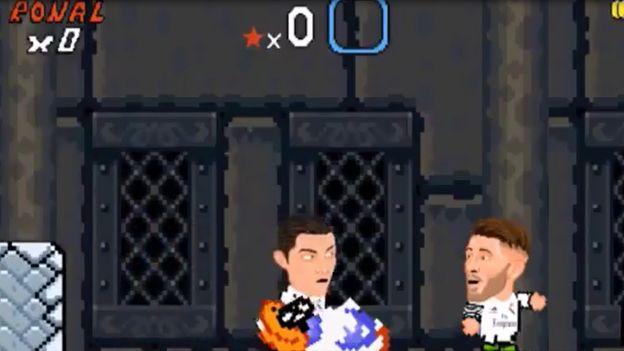 Cristiano Ronaldo y Gonzalo Higuaín en una imperdible parodia de Super Mario